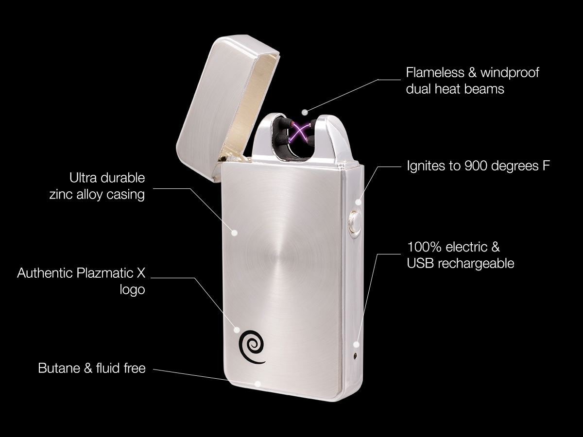 Lithium Ion Battery >> Dark matter executive Plazmatic X | Electric Arc Lighter